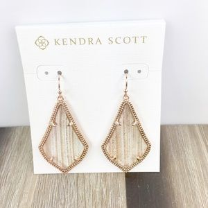 Kendra Scott Alex gold dusted rose gold earrings